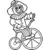 Klaun na rowerze – Kolorownka